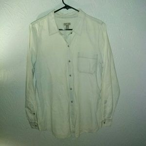 New J Jill M Chambray Button Shirt Light Wash